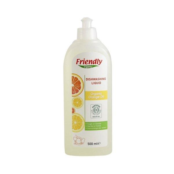 Friendly Organic Препарат за измиване на съдове с портокалово масло 500 мл.
